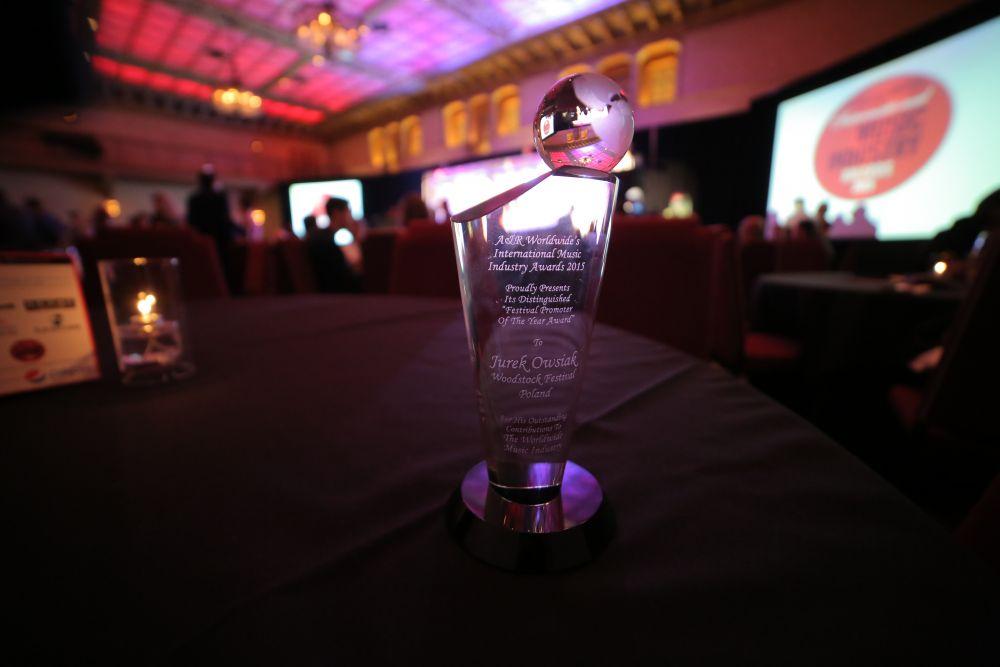 Jurek Owsiak - best festival promotor award